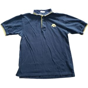 Black Iowa Hawkeyes Polo Shirt L NCAA BAW